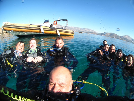 Seahorse Dive selfie in the water