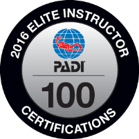 PADI Elite Instructor Award 2016 SEAHORSEDIVE ATHENS