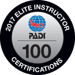 PADI Elite Instructor Award 2017 SEAHORSEDIVE ATHENS